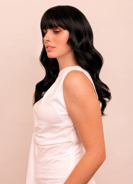 16 Inch Deluxe Clip in Hair Extensions #1 Jet Black