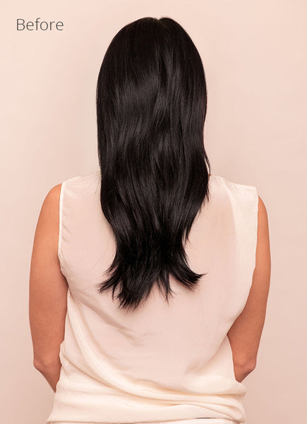 24 Inch Deluxe Clip in Hair Extensions #1 Jet Black