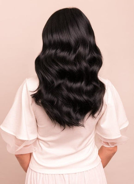 16 Inch Ultimate Volume Clip in Hair Extensions #1 Jet Black