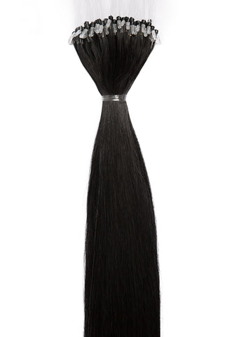 24 Inch Micro Loop Hair Extensions #1 Jet Black