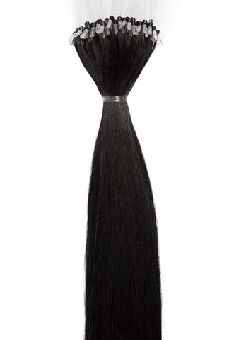 20 Inch Micro Loop Hair Extensions #1 Jet Black