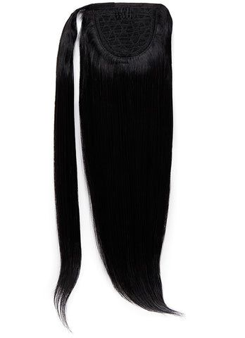 22 Inch Clip In Ponytail Extension #1 Jet Black