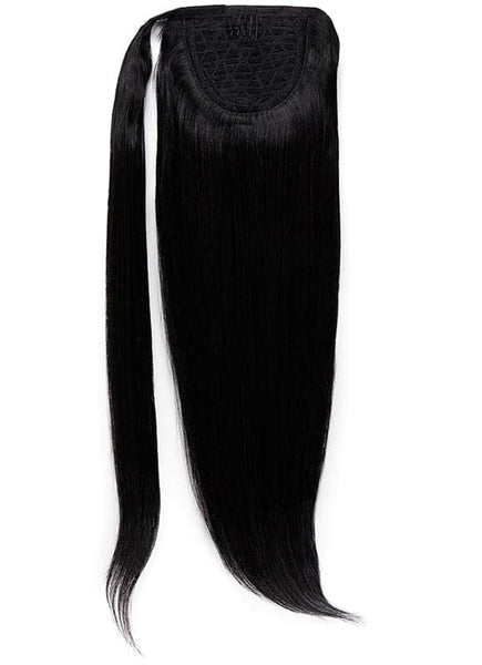 16 Inch Clip In Ponytail Extension #1 Jet Black