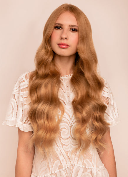 24 Inch Ultimate Volume Clip in Hair Extensions #14 Dark Blonde