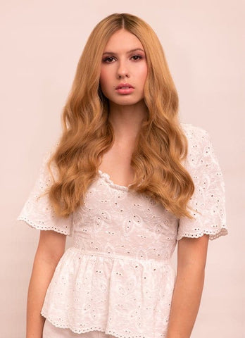 16 Inch Ultimate Volume Clip in Hair Extensions #14 Dark Blonde