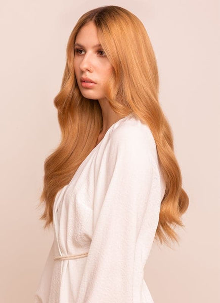 20 Inch Full Head Clip in Hair Extensions #14 Dark Blonde