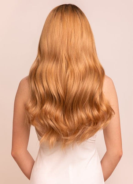 20 Inch Ultimate Volume Clip in Hair Extensions #14 Dark Blonde