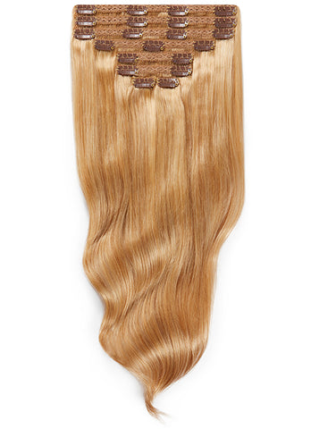 24 Inch Ultimate Volume Clip in Hair Extensions #16 Light Golden Blonde