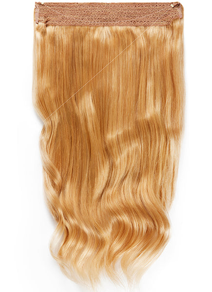 22 Inch Halo Hair Extensions #16 Light Golden Blonde