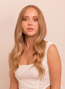 16 Inch Full Volume Clip in Hair Extensions #18 Golden Blonde