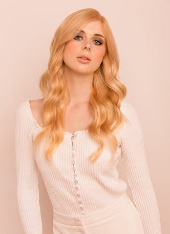 16 Inch Deluxe Clip in Hair Extensions #27 Strawberry Blonde