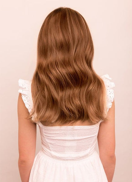 16 Inch Full Volume Clip in Hair Extensions #8 Chestnut Brown