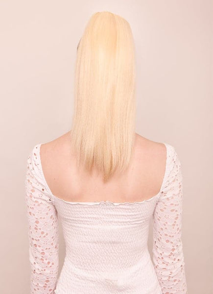 16 Inch Clip In Ponytail Extension #60 Light Blonde