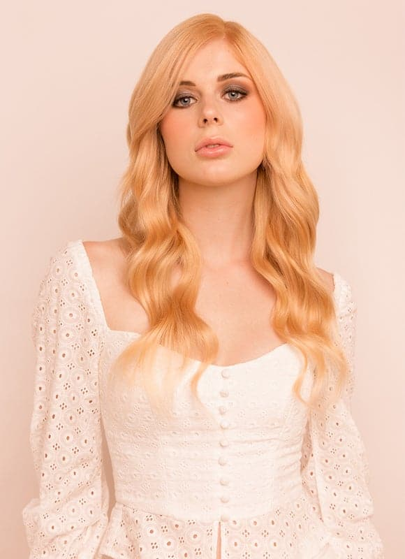 16 Inch Full Volume Clip in Hair Extensions #27 Strawberry Blonde