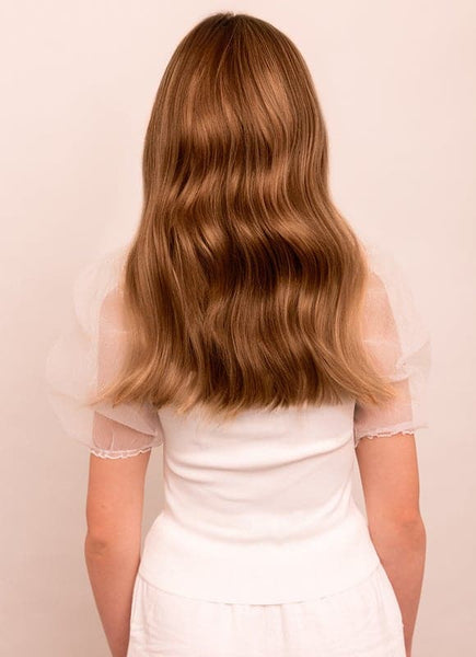 16 Inch Halo Hair Extensions #8 Chestnut Brown