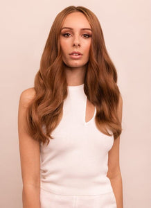 16 Inch Halo Hair Extensions #6 Light Chestnut Brown