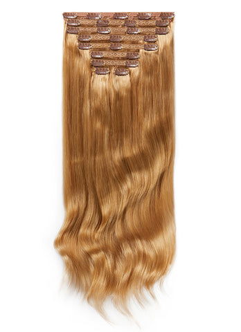 24 Inch Deluxe Clip in Hair Extensions #18 Golden Blonde