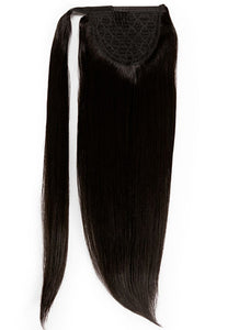 22 Inch Clip In Ponytail Extension #1B Natural Black