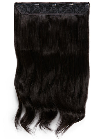 20 Inch Clip In One Piece/ Volumiser #1B Natural Black