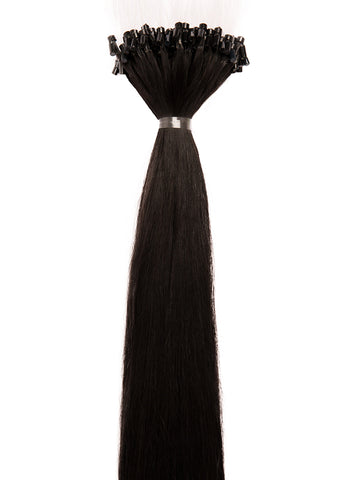 24 Inch Micro Loop Hair Extensions #1B Natural Black