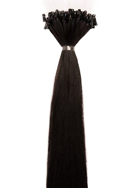 20 Inch Micro Loop Hair Extensions #1B Natural Black