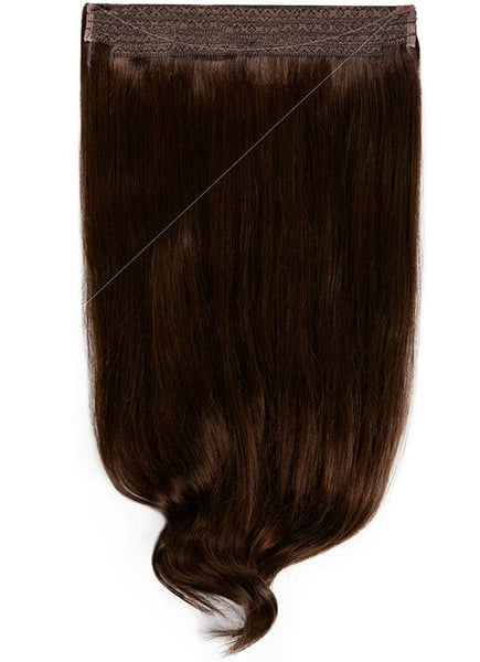 16 Inch Halo Hair Extensions #1C Mocha Brown