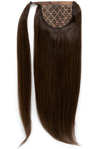 16 Inch Clip In Ponytail Extension #1C Mocha Brown