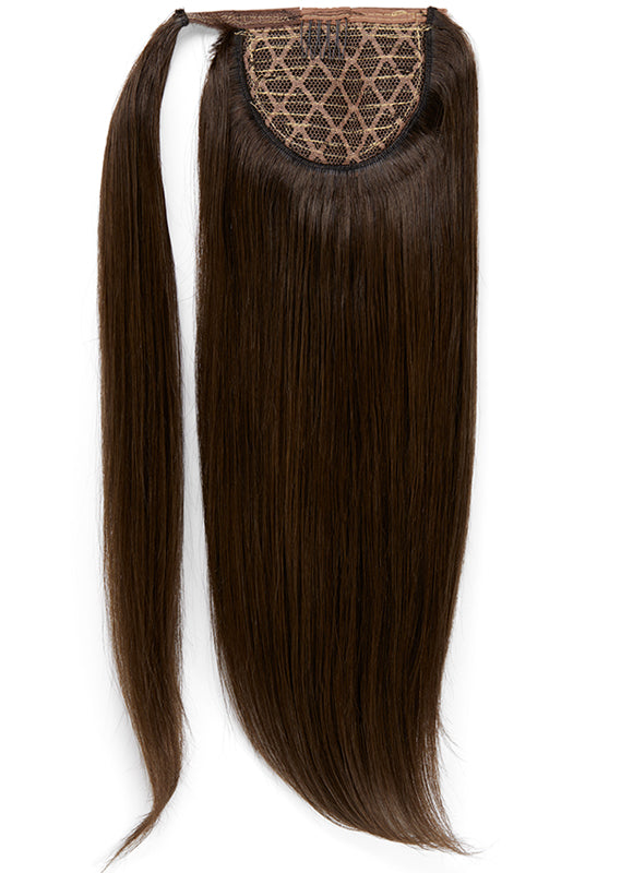 22 Inch Clip In Ponytail Extension #1C Mocha Brown