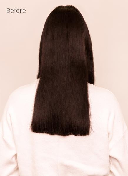 22 Inch Halo Hair Extensions #1B Natural Black