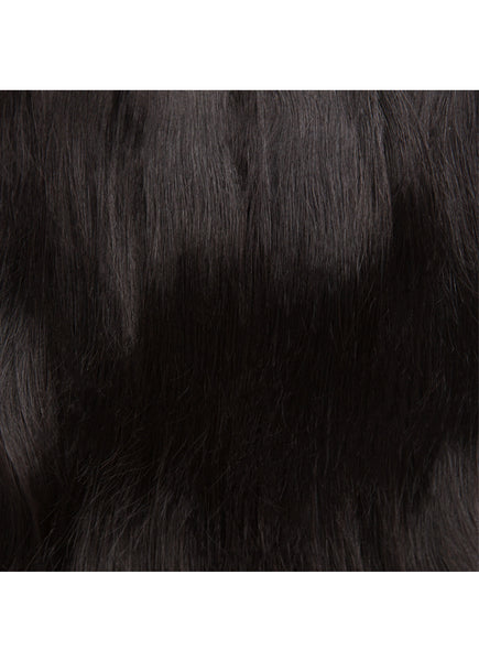 22 inch Seamless Clip in Hair Extensions #1B Natural Black