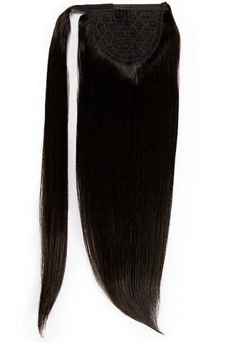 16 Inch Clip In Ponytail Extension #1B Natural Black