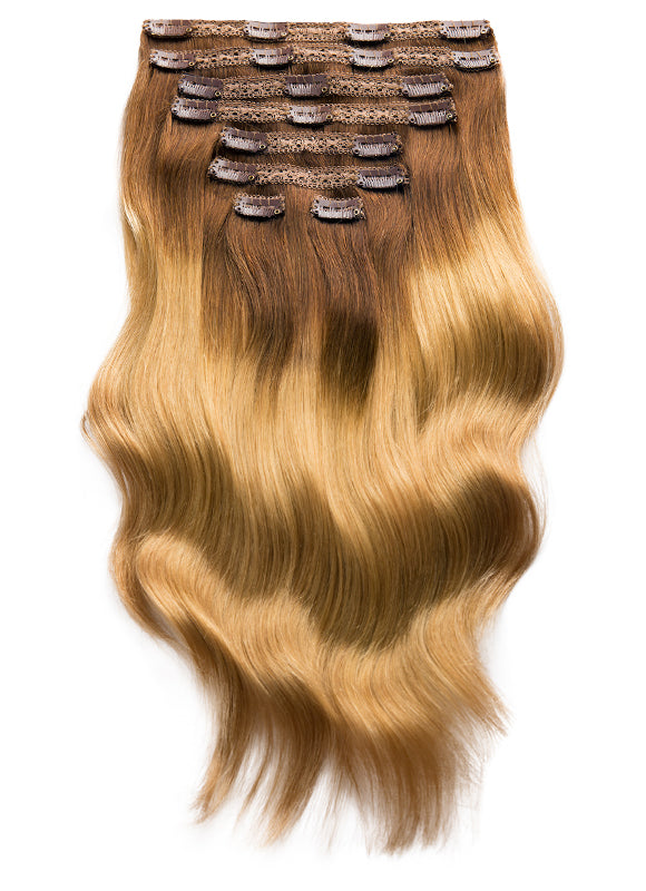 20 Inch Ultimate Volume Clip in Hair Extensions T#1C/16 Ombre