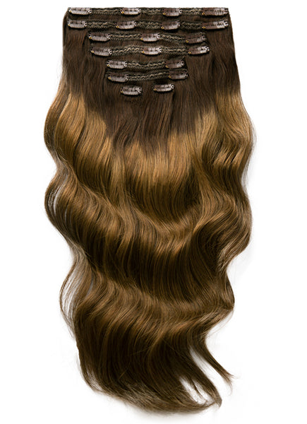 20 Inch Ultimate Volume Clip in Hair Extensions T#1C-1C/04 Balayage