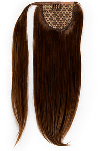 22 Inch Clip In Ponytail Extension #2 Dark Brown