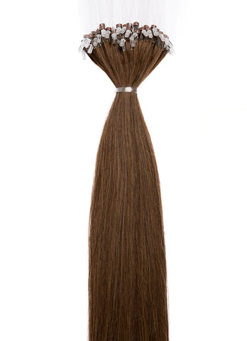 24 Inch Micro Loop Hair Extensions #2 Dark Brown