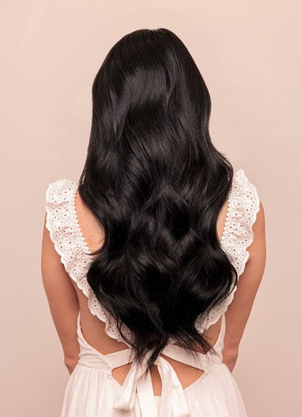 20 Inch Full Volume Clip in Hair Extensions #1 Jet Black