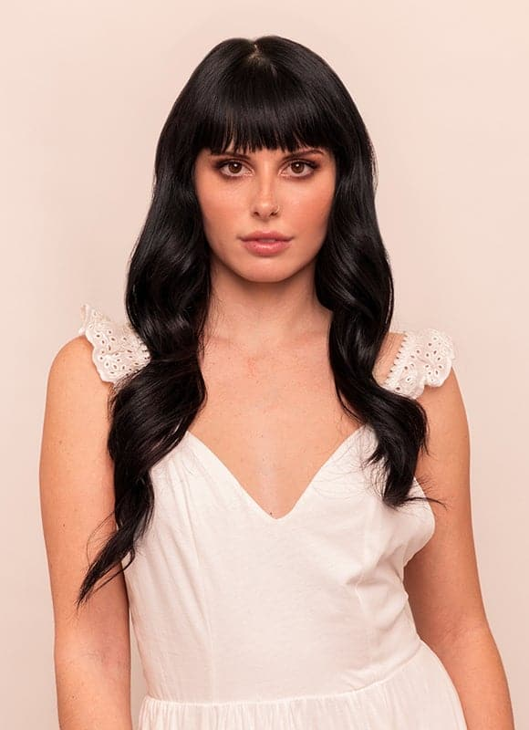 20 Inch Full Head Clip in Hair Extensions #1 Jet Black ...