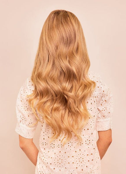 20 Inch Full Volume Clip in Hair Extensions #16 Light Golden Blonde