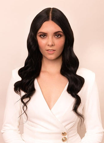 20 Inch Full Head Clip in Hair Extensions #1B Natural Black