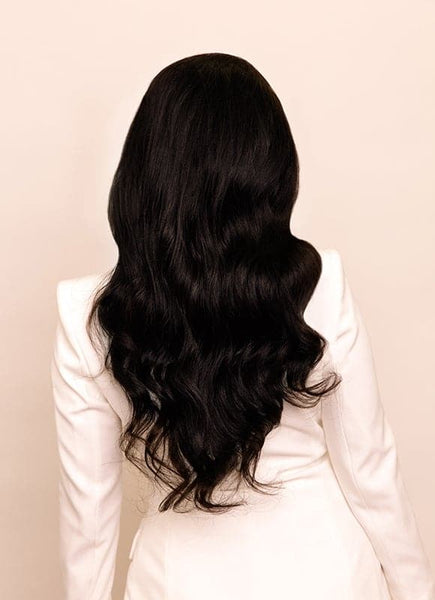 20 Inch Full Lace Human Hair Wig #1B Natural Black