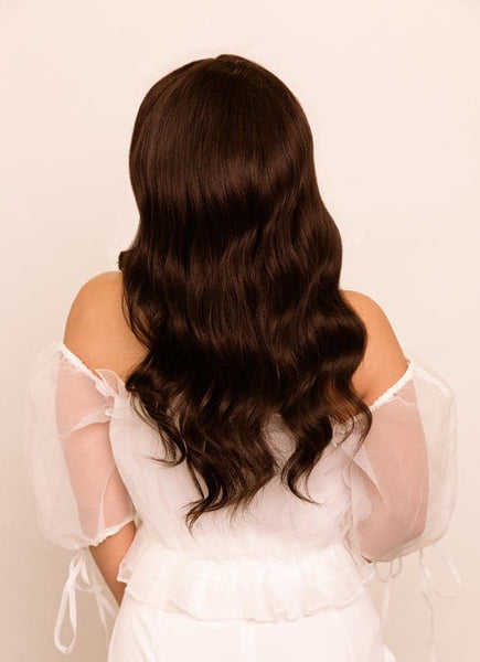 16 Inch Full Lace Human Hair Wig #2 Dark Brown