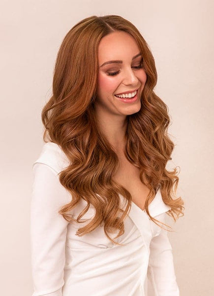 20 Inch Ultimate Volume Clip in Hair Extensions #6 Light Chestnut Brown