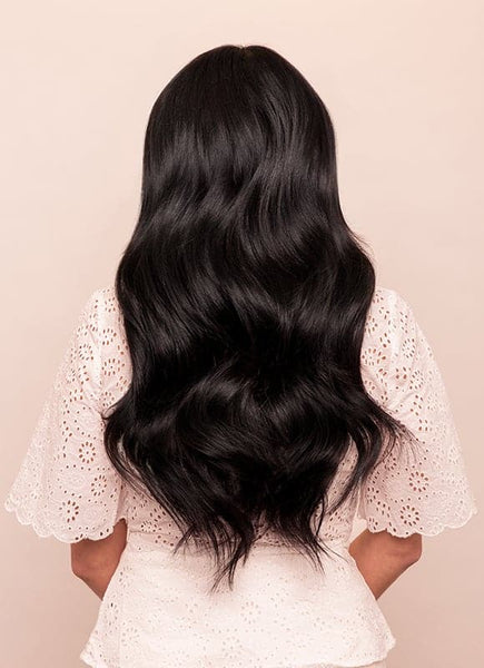 20 Inch Ultimate Volume Clip in Hair Extensions #1 Jet Black