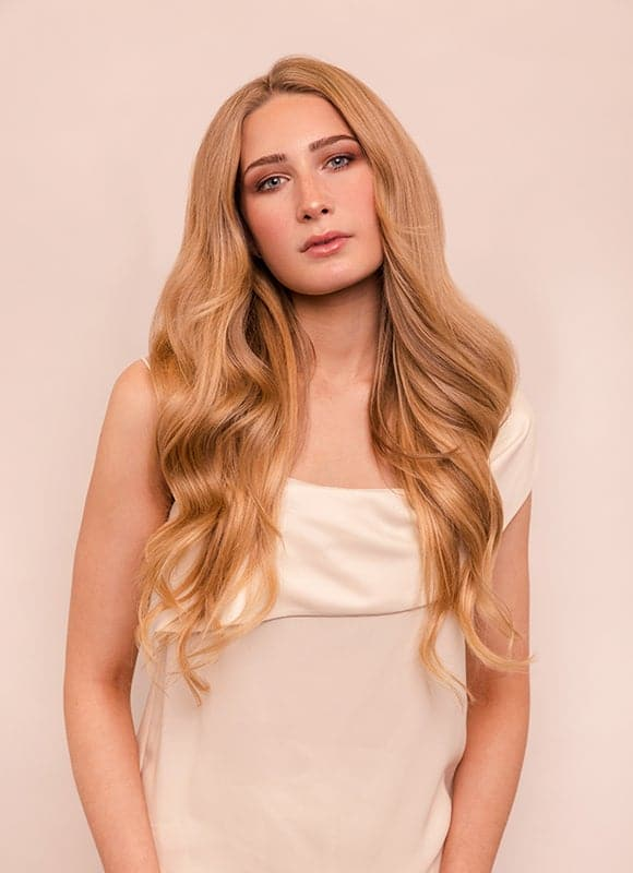 20 Inch Ultimate Volume Clip in Hair Extensions #16 Light Golden Blonde