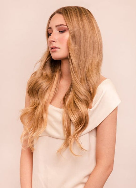 20 Inch Remy Tape Hair Extensions #18 Golden Blonde