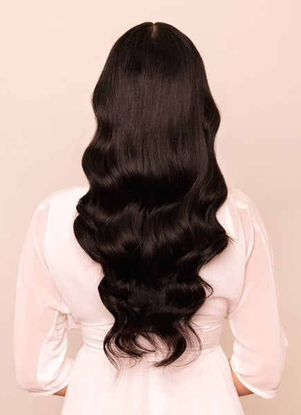 20 Inch Nail/ U-Tip Hair Extensions #1B Natural Black
