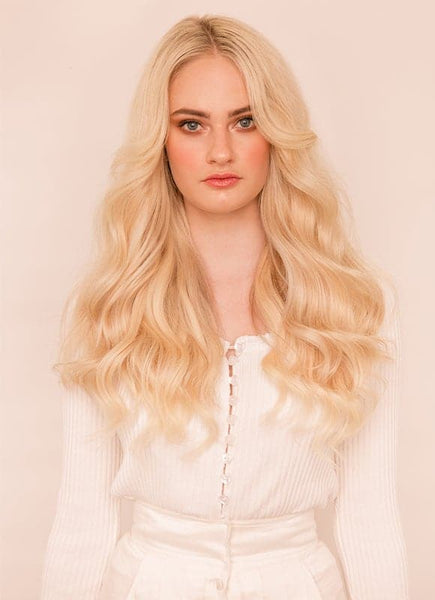 20 Inch Nail/ U-Tip Hair Extensions #60 Light Blonde