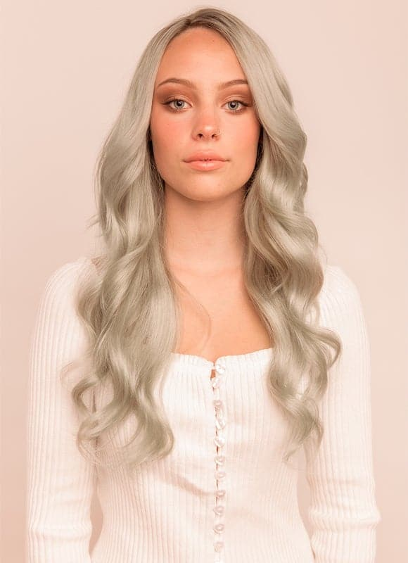 20 Inch Full Volume Clip in Hair Extensions #Silver