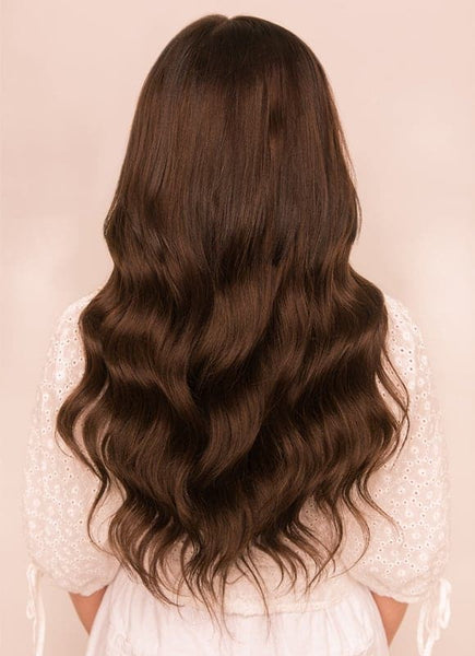 20 Inch Ultimate Volume Clip in Hair Extensions #1C Mocha Brown