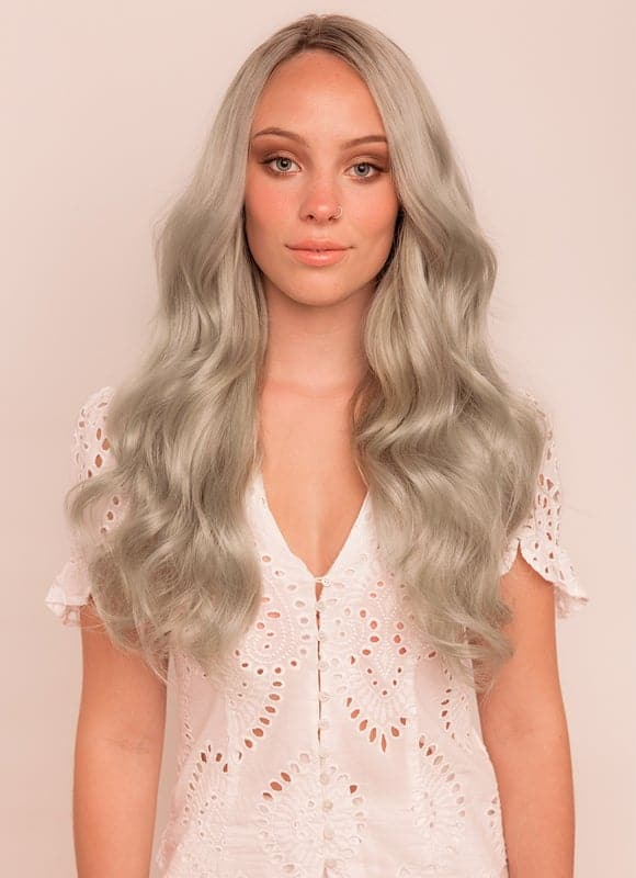 20 Inch Ultimate Volume Clip in Hair Extensions #Silver ...